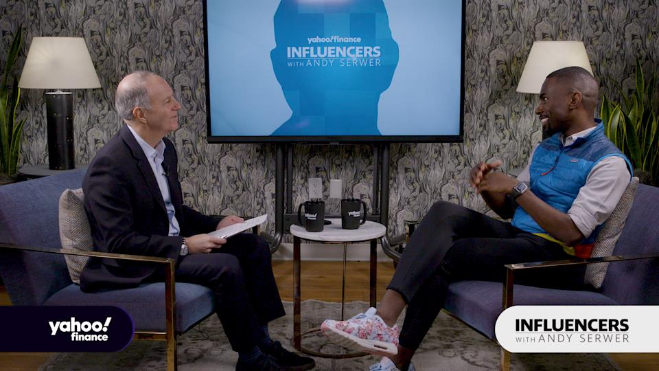 Activist and podcast host DeRay Mckesson appears on Influencers with Andy Serwer.