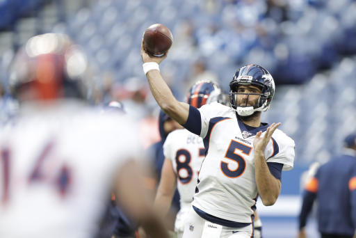 Broncos QB Joe Flacco to miss Week 9 with neck injury