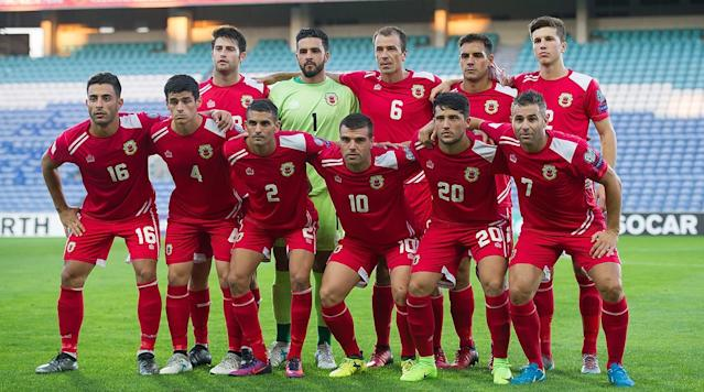 Notts County's Liam Walker's deflected free-kick in the 88th minute gave Gibraltar a 1-0 win over Latvia, its second-ever win and its first as a FIFA nation.
