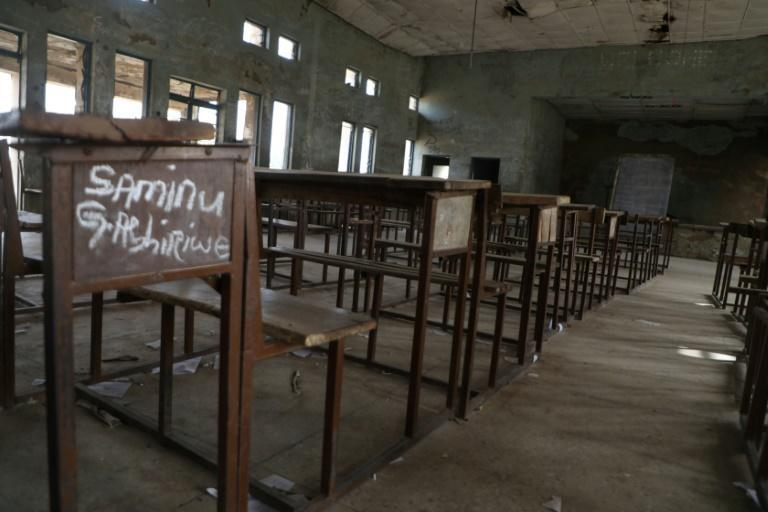 This classroom in Kagara, northwestern Nigeria, is also deserted