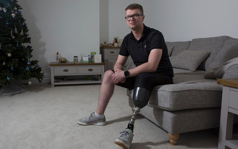 Sgt Tom Dorman lost his leg when a drunk driver crashed into him while he was on duty - Tom Pilston