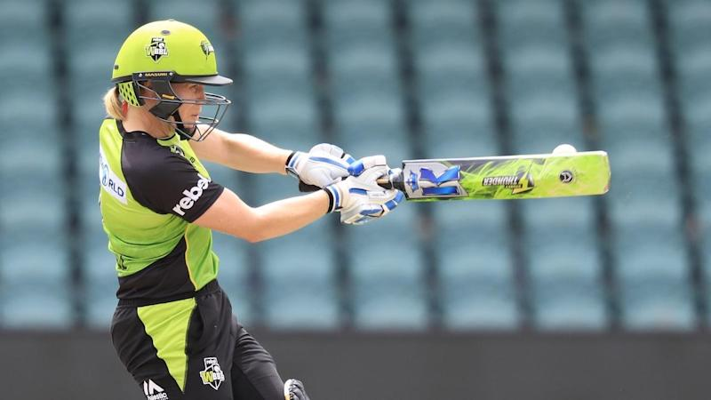 Sydney Thunder skipper Alex Blackwell has revealed she has been playing in the WBBL with an injury.