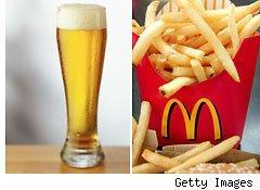 Mcdonald's and beer?