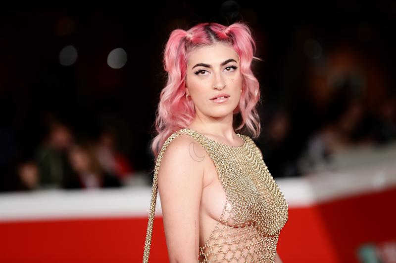 "Italian singer Roshelle attends the red carpet of the movie ""Hustlers"""