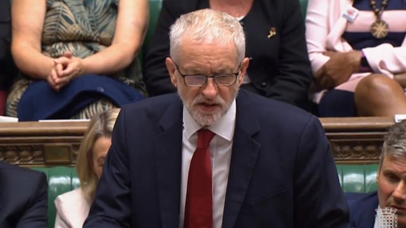 Labour leader Jeremy Corbyn speaking in the House of Commons, London after MPs voted in favour of allowing a cross-party alliance to take control of the Commons agenda on Wednesday in a bid to block a no-deal Brexit on October 31.