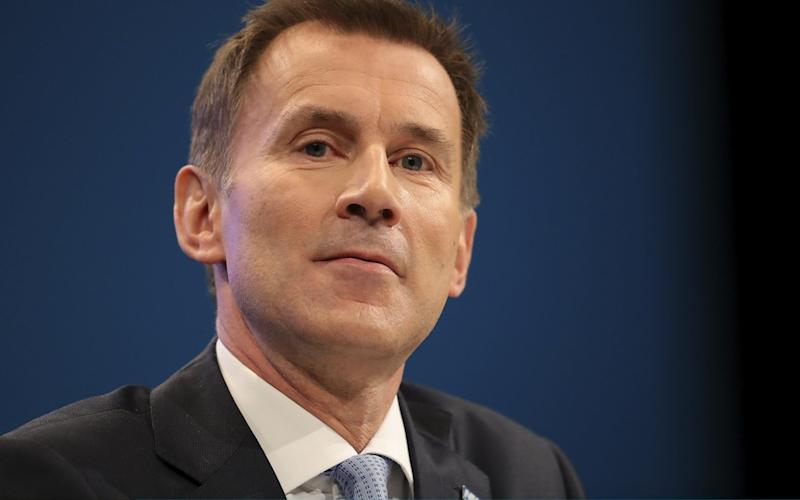 Health Secretary Jeremy Hunt sent a strong warning to Facebook - Getty Images