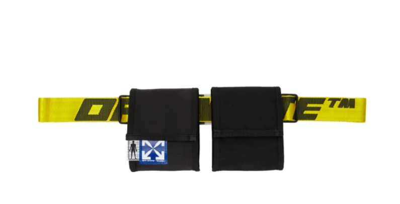 Off-White black & yellow two-pocket fanny pack, 44% off. US$300 (was US$535). PHOTO: Ssense