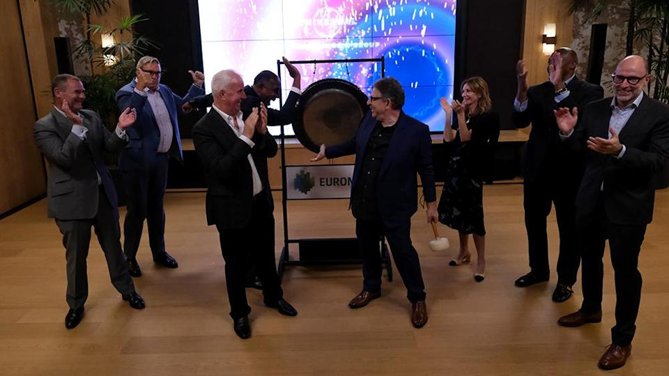 """""""Sir Lucian Grainge Chairman and CEO of Universal Music Group Celebrates Euronext Amsterdam Listing Debut"""""""