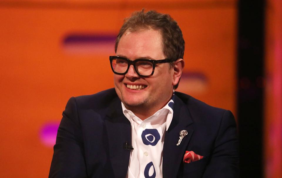 Alan Carr during the filming for the Graham Norton Show at BBC Studioworks 6 Television Centre, Wood Lane, London, to be aired on BBC One on Friday evening. (Photo by Isabel Infantes/PA Images via Getty Images)