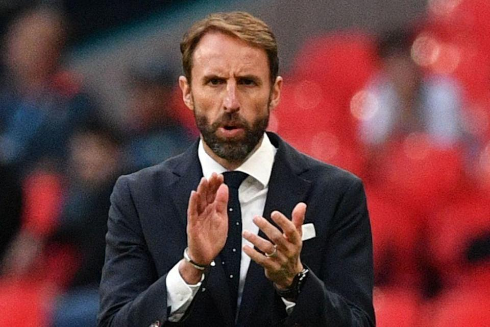 Southgate is facing criticism for his cautious approach given England's abundant attacking talent (POOL/AFP via Getty Images)