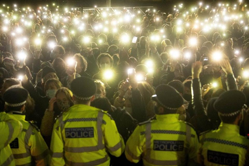 Sarah Everard's death sparked an outpouring of concern over women's safety, with hundreds of people attending a vigil in her memory in Clapham, south London in March (Victoria Jones/PA) (PA Wire)