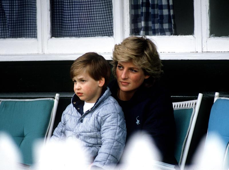 Others noted similarities between her and father Prince William (pictured in 1987 aged five) and grandmother Princess Diana (Getty Images)