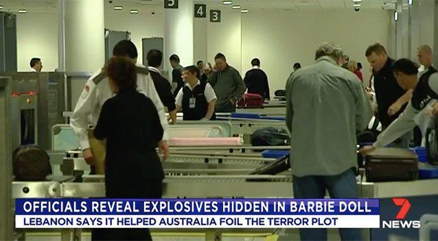 Lebanese authorities worked closely with Australian officials to foil the attack. Source: 7 News