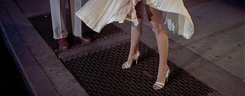 Marilyn Monroe's dress blows up in The Seven Year Itch