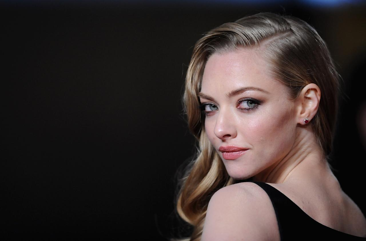"LONDON, ENGLAND - DECEMBER 05:  Actress Amanda Seyfried attends the ""Les Miserables"" World Premiere at the Odeon Leicester Square on December 5, 2012 in London, England.  (Photo by Stuart Wilson/Getty Images)"