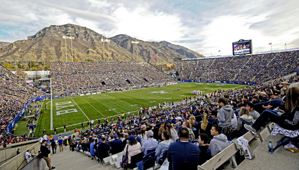 PROVO, UT - NOVEMBER 12: General view of LaVell Edwards Stadium during the game between the Southern Utah Thunderbirds and the Brigham Young Cougars on November 12, 2016 in Provo Utah. (Photo by Gene Sweeney Jr/Getty Images) *** Local Caption ***
