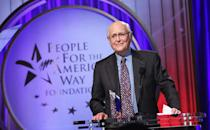 """<p>In 1980, Lear pressed pause on his television career and created People for the American Way, a non-profit designed to """"educate, energize, and equip Americans to build a country that more fully reflects the values of freedom, fairness, and opportunity in a diverse democratic society,"""" <a href=""""http://www.normanlear.com/citizenship/"""" rel=""""nofollow noopener"""" target=""""_blank"""" data-ylk=""""slk:according to its website"""" class=""""link rapid-noclick-resp"""">according to its website</a>. The organization was formed in part to push back on the """"divisive rhetoric of newly politicized televangelists,"""" per Lear's bio.</p> <p>As part of his work with PFAW, Lear produced an influential, star-studded political television special, <i>I Love Liberty,</i> in 1982. Though he continued to write and produce through the later '80s and '90s, the pace of his work slowed. </p>"""