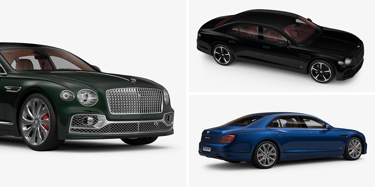 "<p><a href=""https://www.caranddriver.com/news/a27887457/2020-bentley-flying-spur-photos-info/"" target=""_blank"">Bentley's new Flying Spur</a> has been redesigned from the ground up for the first time since 2005, and it looks absolutely fabulous. Despite having no hope to ever actually own a Flying Spur, some of us on the <em>C/D</em> staff decided to shirk our work responsibilities and come up with our dream Flying Spur specs on <a href=""https://www.bentleymotors.com/en/misc/car-configurator.html/models/New_Flying_Spur/new_flying_spur/navigate/pivot"" target=""_blank"">Bentley's online configurator</a>. We don't yet know how much the Flying Spur or any of its numerous options will cost, so these specs are even less rooted in reality than they already were.</p><p>Click through to see how <em>Car and Driver</em> staffers Michael Aaron, Charles Dryer, Daniel Golson, and Alexander Stoklosa would spec their ideal Flying Spurs.</p>"