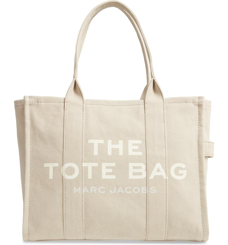 <p>For the ultimate everyday bag, look no further than the <span>The Marc Jacobs Traveler Canvas Tote</span> ($195).</p>