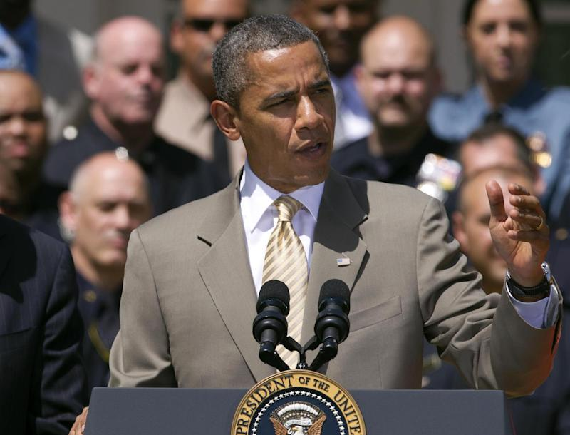 FILE - In this May 12, 2012 file photo, President Barack Obama speaks in the Rose Garden at the White House in Washington. President Barack Obama opened a new advertising assault on challenger Mitt Romney's record as a businessman _ his primary strength with an American electorate still deeply worried about the economy _ casting the likely Republican nominee as a greedy entrepreneur who bought up companies and wiped out jobs.  (AP Photo/Manuel Balce Ceneta, File)