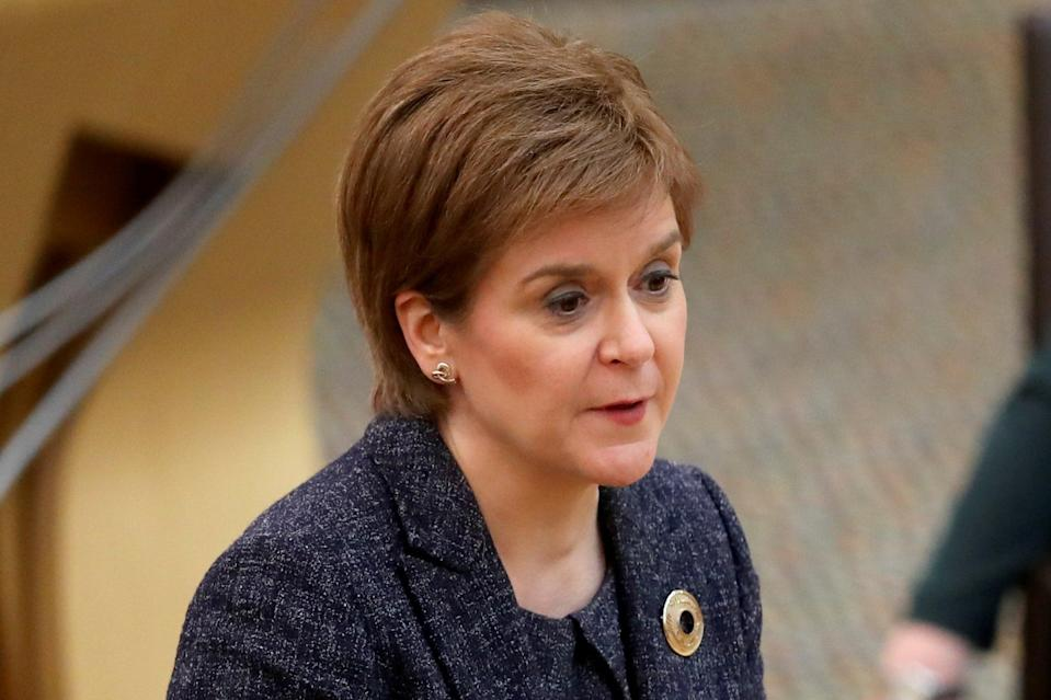 <p>Sturgeon hopes to be among the Scottish fans at Hampden this summer</p> (Getty Images)