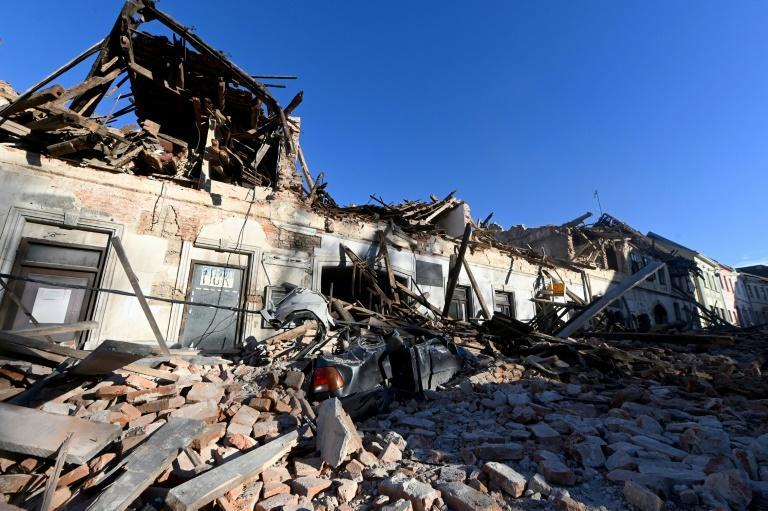 The damage was concentrated in the town of Petrinja, home to some 20,000 people, where rooftops caved in and bricks and other debris lined the streets
