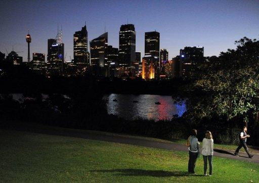 This file photo shows the Sydney skyline pictured in March. An ambitious plan aimed at maximising links with booming China and other soaring Asian economies will power Australia into the world's top 10 wealthiest nations by 2025, the government said on Sunday