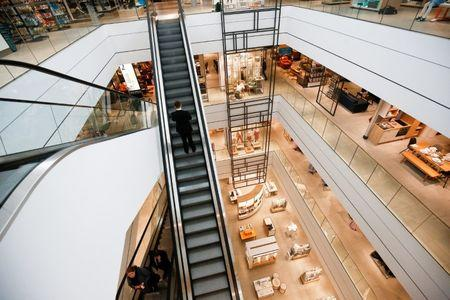 FILE PHOTO:  The new John Lewis store at the Westfield shopping centre in White City is seen in London