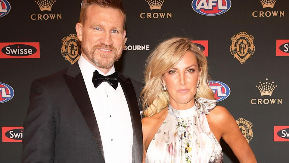 Nathan and Tania Buckley, pictured here at the 2018 Brownlow Medal night.