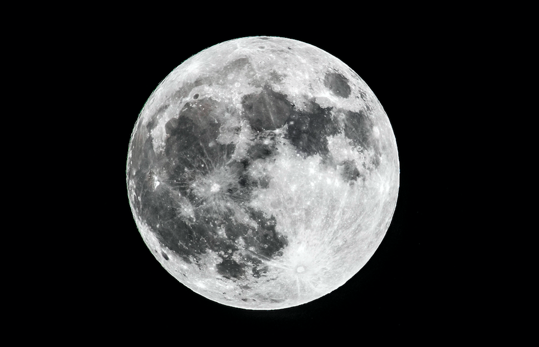 <p>Pictured in the sky over Scarborough, North Yorkshire, the moon could be seen in stunning detail. (PA) </p>