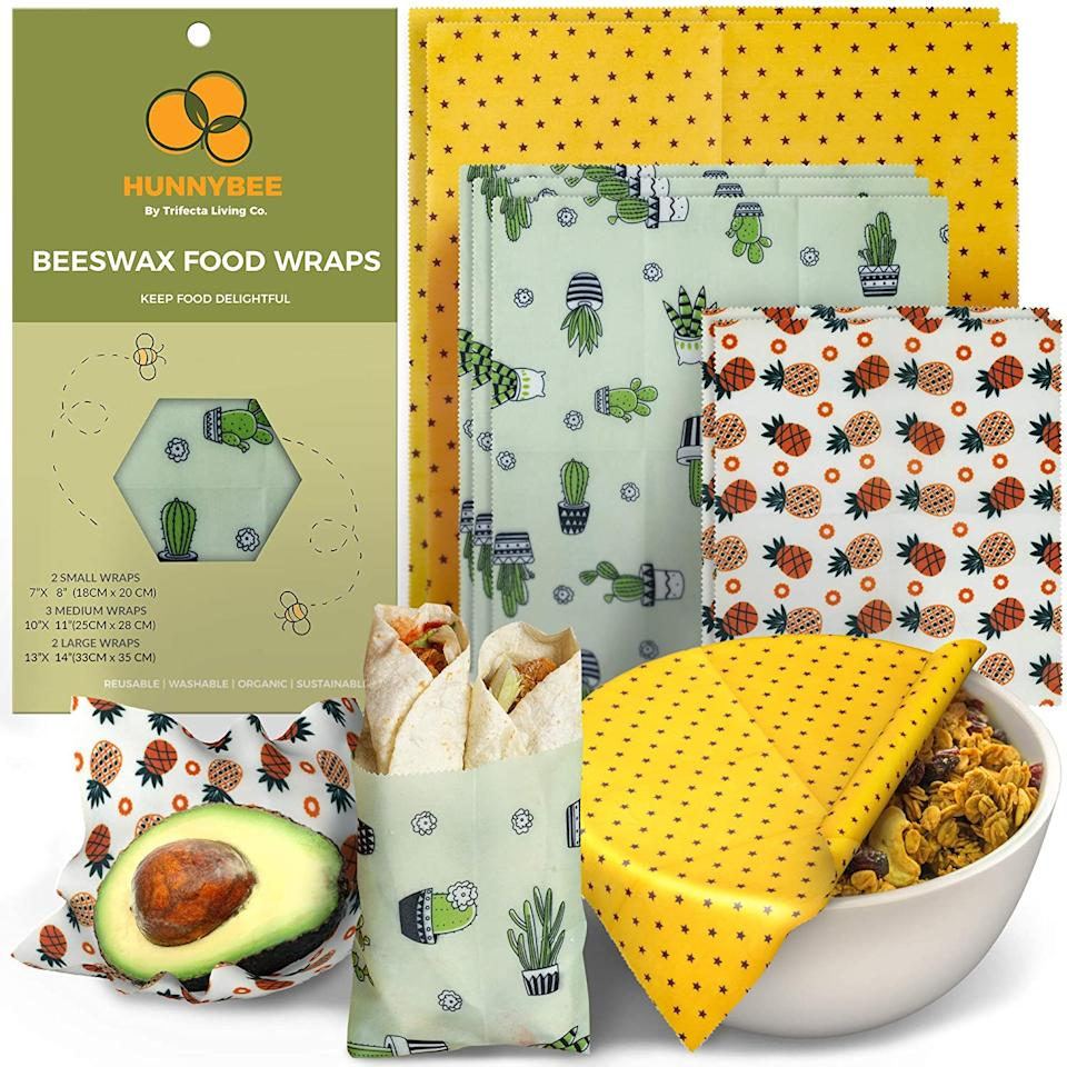 Trifecta Living Co. Hunnybee Reusable Beeswax Food Wrap (Photo via Amazon)