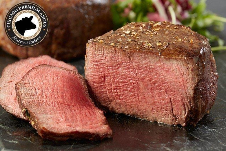 """<p><strong>Chicago Steak Company </strong></p><p>mychicagosteak.com</p><p><strong>$69.95</strong></p><p><a href=""""https://go.redirectingat.com?id=74968X1596630&url=https%3A%2F%2Fwww.mychicagosteak.com%2Fshop-by-price%2Funder-75%2Fpremium-angus-beef-filet-mignon-complete-trim-aged-for-six-weeks-psc150.html&sref=https%3A%2F%2Fwww.goodhousekeeping.com%2Fholidays%2Fvalentines-day-ideas%2Fg3077%2Fvalentines-day-gifts-for-him%2F"""" rel=""""nofollow noopener"""" target=""""_blank"""" data-ylk=""""slk:Shop Now"""" class=""""link rapid-noclick-resp"""">Shop Now</a></p><p>Nothing tops a steak dinner for two on Valentine's Day. If your guy prefers to be the one manning the grill (it's his love language, we get it), then give him a premium cut of angus beef, all individually wrapped and vacuum sealed, for him to prepare any way he pleases. </p>"""