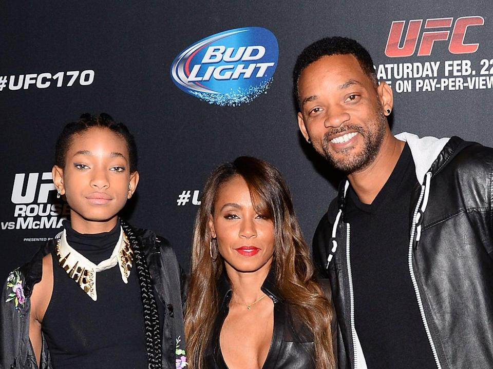 Willow Smith, Jada Pinkett Smith and Will Smith in 2014Getty Images