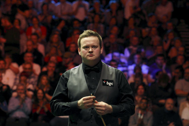 Shaun Murphy of England looks on during a frame against Australia's Neil Robertson during the final of the BGC masters snooker tournament at Alexandra Palace in London, on January 22, 2012. AFP PHOTO / JUSTIN TALLIS (Photo credit should read JUSTIN TALLIS/AFP/Getty Images)