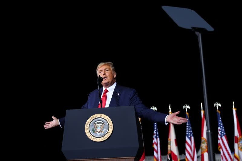 U.S. President Trump holds a campaign rally in Pensacola