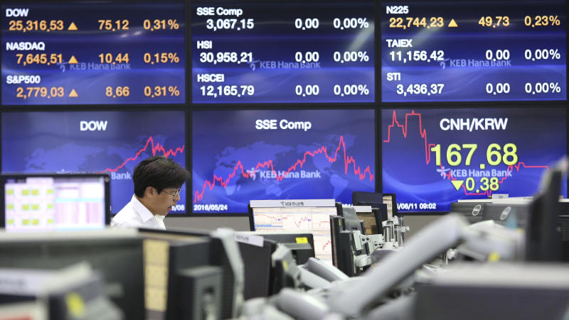 Stock markets higher ahead of Trump-Kim meeting