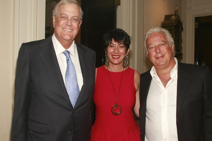 """<div class=""""inline-image__caption""""> <p>David Koch, Ghislaine Maxwell and Aby Rosen attend Christine & Steve Schwarzman Host a Private Evening to Celebrate Anna Netrebko's New Album, """"Verdi"""" at Private Residence on September 16, 2013 in New York City. </p> </div> <div class=""""inline-image__credit""""> Sylvain Gaboury/Patrick McMullan via Getty </div>"""