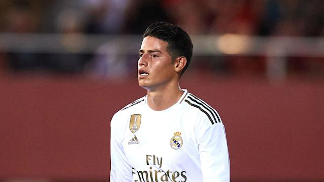 James Rodriguez looks set to miss the first Clasico of the season after Real Madrid confirmed the playmaker had sprained a knee ligament.