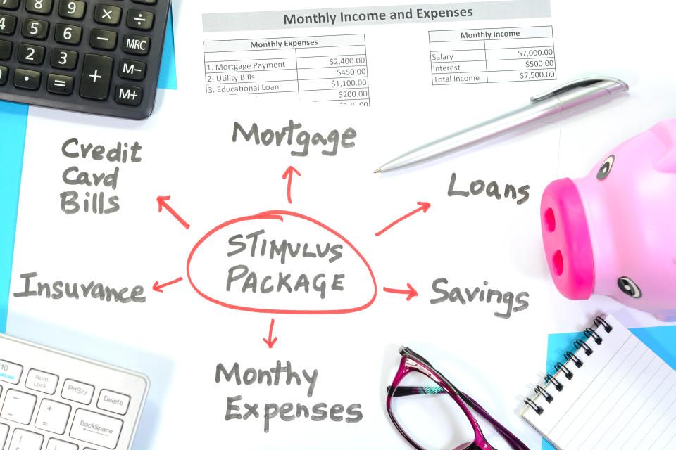 An example of a guide to how to handle financial crisis using the stimulus package. (Getty Images)