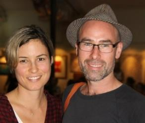 Missy Higgins and Dan Lee in Broome. Picture: Nicola Kalmar/ The West Australian.