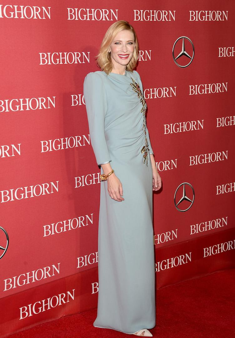 Venturing into new designer territory, the actress chose a grecian-style dress by Marc Jacobs. [Photo: Getty]