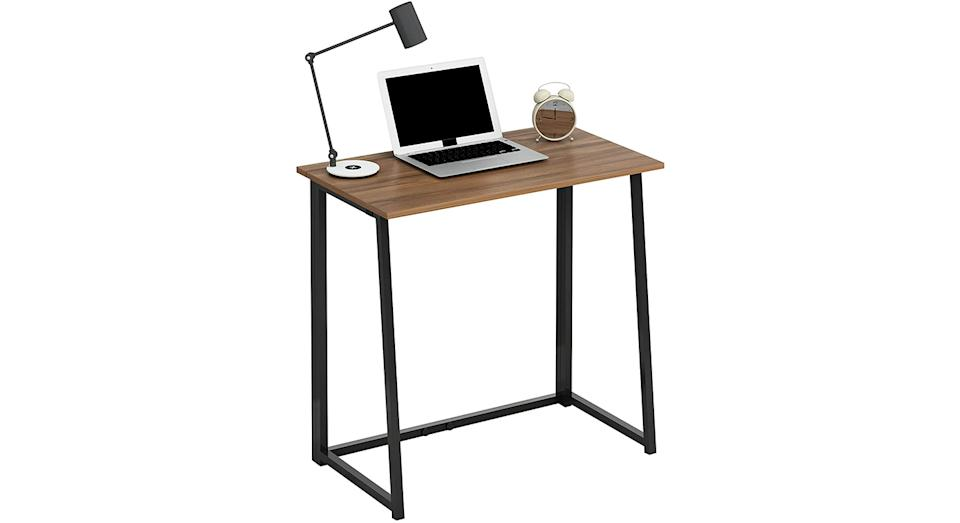 Cherry Tree Furniture Compact Foldable Computer Desk Laptop Desktop Table
