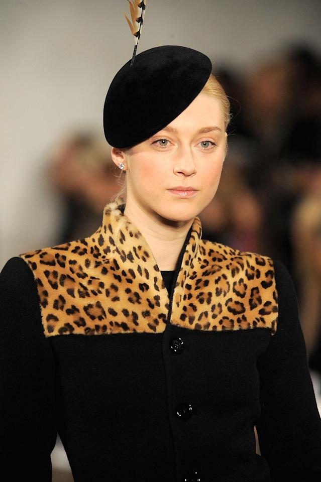 Anastassia Khozzisova walks the runway wearing Ralph Lauren Fall 2008 collection during Mercedes-Benz Fashion Week Fall 2008 at The Tent, Bryant Park on February 8, 2007. (Photo by Biasion Studio/WireImage)