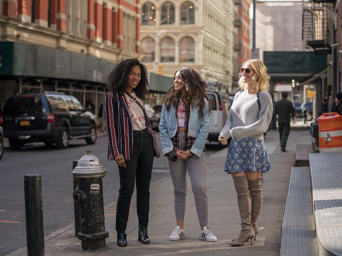 """DeWanda Wise, Gina Rodriguez, and Brittany Snow play best friends in """"Someone Great."""""""