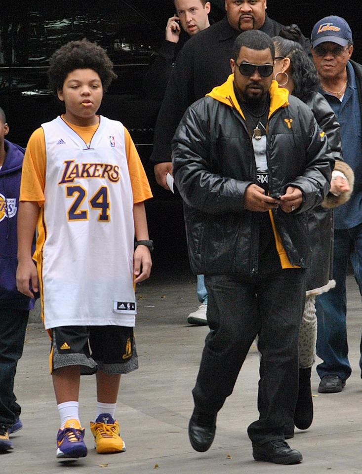 Ice Cube at the Lakers game on Christmas Day.