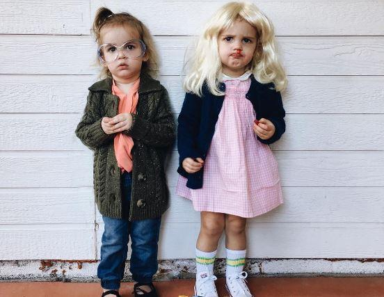 these twin babies coordinated halloween costumes are serious goals