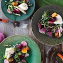 """Burrata is a type of fresh mozzarella with an oozy, creamy center (its name refers to this buttery filling). Let it come to room temperature before serving. <a href=""""https://www.epicurious.com/recipes/food/views/grilled-beets-with-burrata-and-poppy-seed-vinaigrette-51175080?mbid=synd_yahoo_rss"""" rel=""""nofollow noopener"""" target=""""_blank"""" data-ylk=""""slk:See recipe."""" class=""""link rapid-noclick-resp"""">See recipe.</a>"""