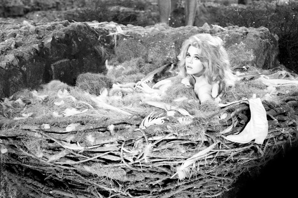 <p>The star played a charming astronaut in <em>Barbarella</em>, a film directed by then-husband Vadim, in 1967.</p>