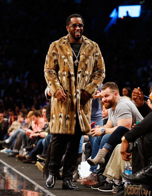 Sean Combs attends a game between the Brooklyn Nets and the New York Knicks at Barclays Center on March 12, 2017. (Photo: Jim McIsaac/Getty Images)