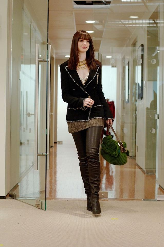 Really, just looking at a still of Andy's post-makeover debut gives us chills. She could not have rocked those leather pants and that preppy-yet-edgy blazer any better.